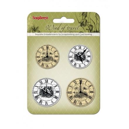 Διπλόκαρφα (white and beige clocks, 4τεμ)
