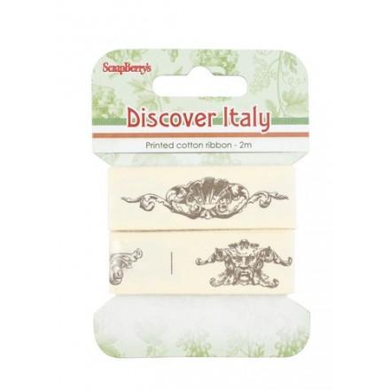 Τυπωμένη Βαμβακερή Κορδέλα (Discover Italy - 20mm, 2m)
