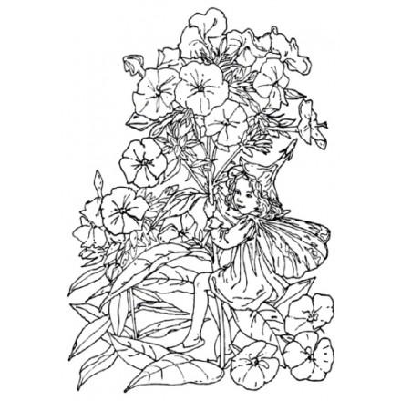 Σφραγίδα Σιλικόνης (10.5 x 7.4cm) - Flower Fairies 02