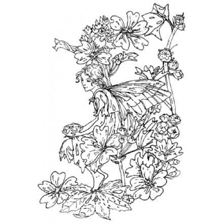 Σφραγίδα Σιλικόνης (10.5 x 7.4cm) - Flower Fairies 07