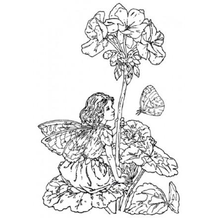 Σφραγίδα Σιλικόνης (10.5 x 7.4cm) - Flower Fairies 08