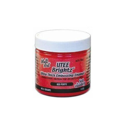 UTEE Brightz Embossing Powder 4 oz. (Red Poppy)