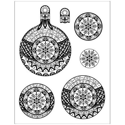 Σφραγίδα Σιλικόνης 3D (14 x 18cm) - Christmas ball Snowflake