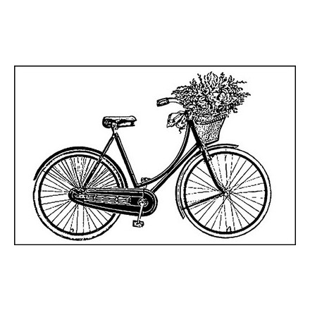 Σφραγίδα Stamperia HD 7x11cm, Bicycle
