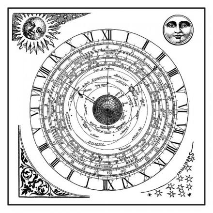 Σφραγίδα Stamperia HD 10x10cm, Alchemy Astronomy