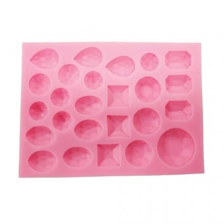 Καλούπι Σιλικόνης 14x10,3x1,2cm, Πετράδια