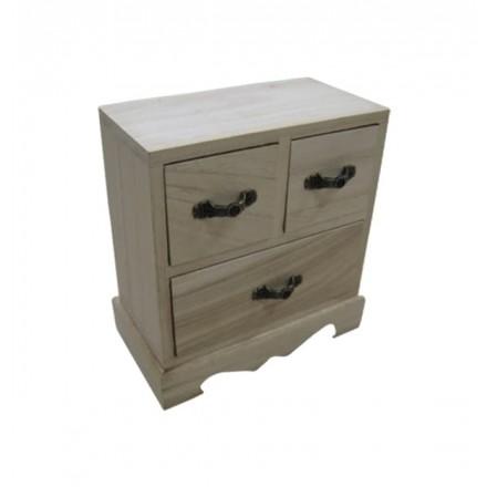 Μικρή ξύλινη συρταριέρα 16×8.8×16.5cm