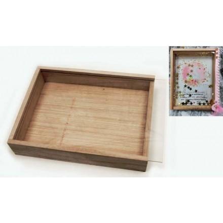 Ξύλινο Κουτί με Plexiglass 17x13cm