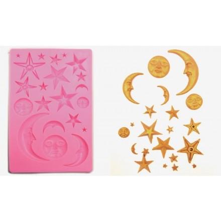 Καλούπι Σιλικόνης 18.9cm x 11.9cm, Αστέρια / 0515157