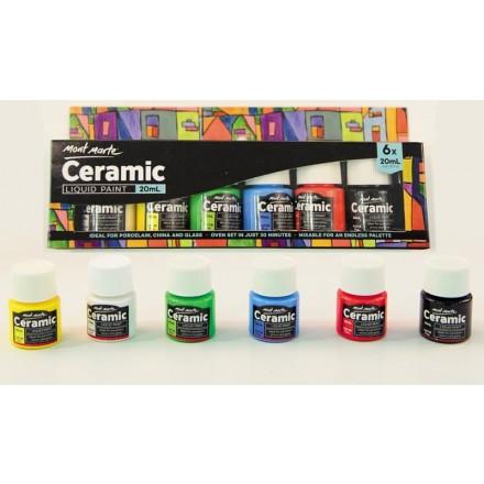 Σετ 6 x 20ml Χρώματα για Κεραμικές Επιφάνειες