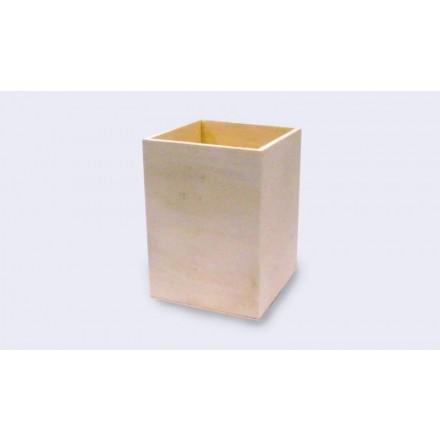 Ξύλινη Τετράγωνη Μολυβοθήκη 8x11cm