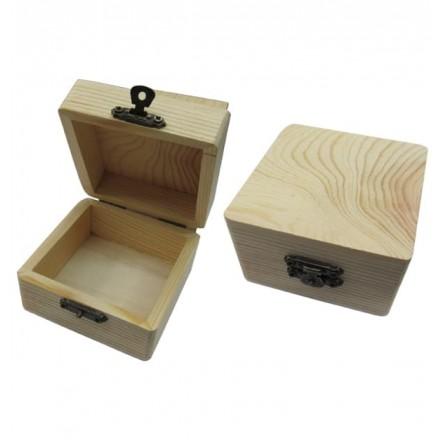 Ξύλινο τετράγωνο κουτάκι 8x8x5cm