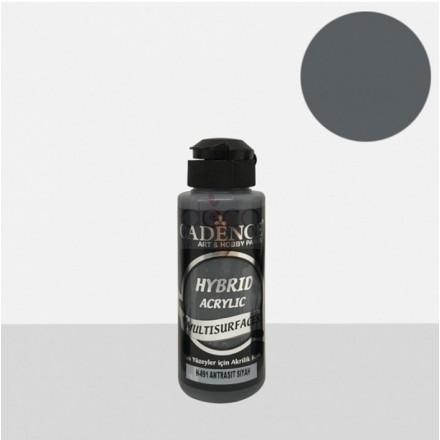 Υβριδικό ακρυλικό χρώμα Cadence ημιματ 120ml, Anthrachite black / H091