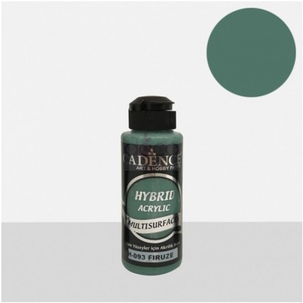 Υβριδικό ακρυλικό χρώμα Cadence ημιματ 120ml, Firuze / H093