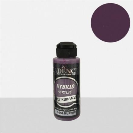 Υβριδικό ακρυλικό χρώμα Cadence ημιματ 120ml, Plum / H064
