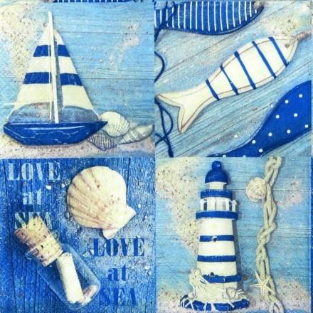 Χαρτοπετσέτα για Decoupage, Love at Sea / 13308365