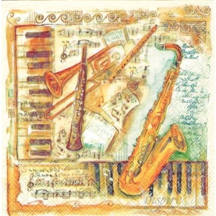 Χαρτοπετσέτα για Decoupage, Musical Instruments / 13308915