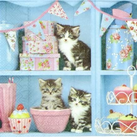 Χαρτοπετσέτα για Decoupage, Cats in the Kitchen / 13308990