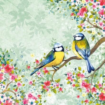Χαρτοπετσέτα για Decoupage,  Bird Watching Green / 13309125