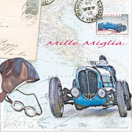 Χαρτοπετσέτα για Decoupage, Mille Miglia / 13309175