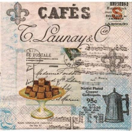 Χαρτοπετσέτα για Decoupage, Cafe Collage / 13309305
