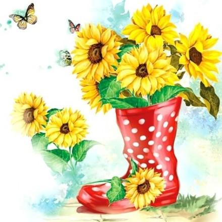 Χαρτοπετσέτα για Decoupage, Sunflowers / 13309430