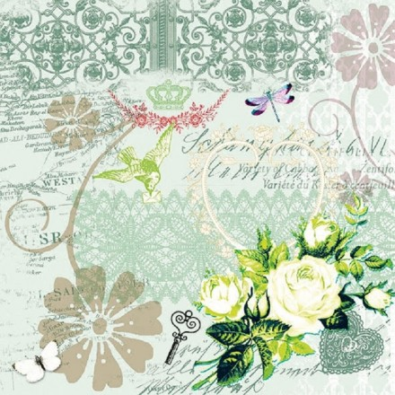 Χαρτοπετσέτα για Decoupage, Variety Of Cabaret green / 13309842