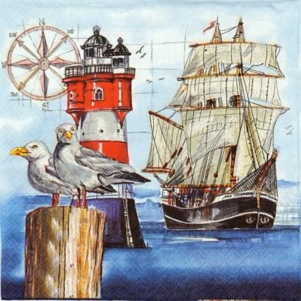 Χαρτοπετσέτα για Decoupage, Harbor / 13310345