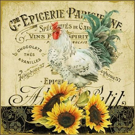 Χαρτοπετσέτα για Decoupage,  Rooster & Sunflowers / 13310985
