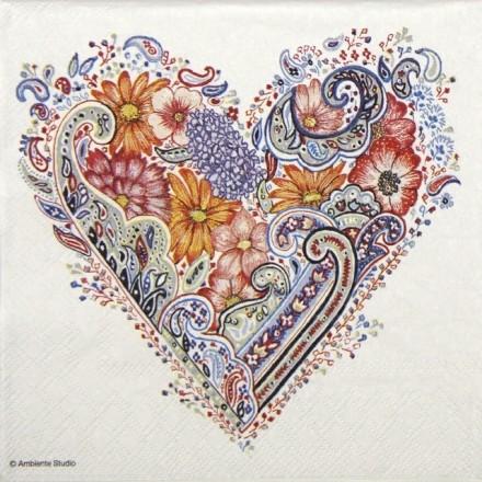 Χαρτοπετσέτα για Decoupage, Spring Heart / 13312670
