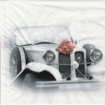 Χαρτοπετσέτα για Decoupage, Wedding Car / 13312990