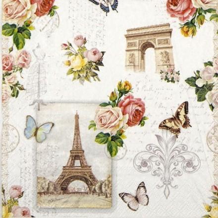 Χαρτοπετσέτα για Decoupage, Paris Monuments / 13313040
