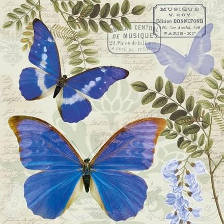 Χαρτοπετσέτα για Decoupage, Blue Morpho / 13313355