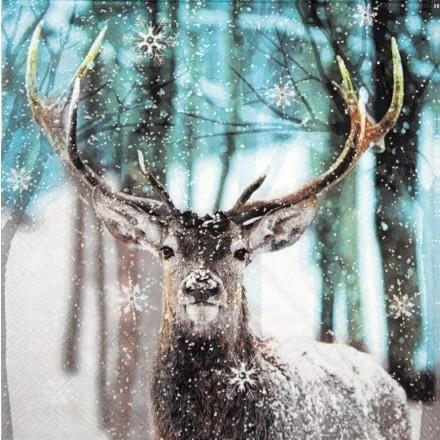 Χαρτοπετσέτα για Decoupage, Winter Deer / 13313765