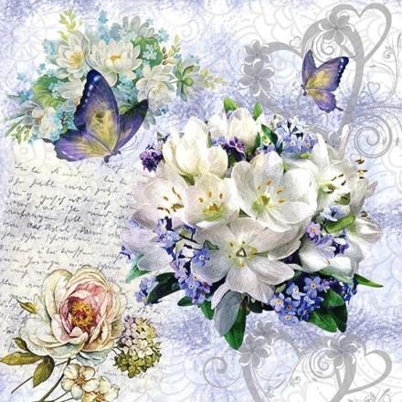 Χαρτοπετσέτα για Decoupage, Flower Love / 13314085