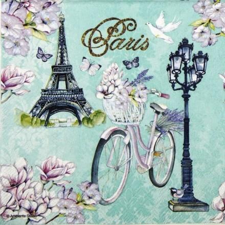 Χαρτοπετσέτα για Decoupage, Bike In Paris / 13314235