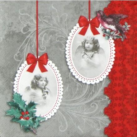 Χαρτοπετσέτα για Decoupage, Vintage Angels grey / 33304541