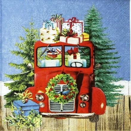 Χριστουγιεννιάτικη Χαρτοπετσέτα για Decoupage, On The Road / 33310795