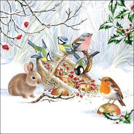 Χριστουγιεννιάτικη Χαρτοπετσέτα για Decoupage, Winter Treat / 33314660