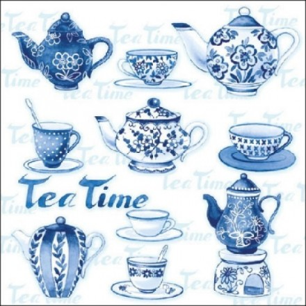 Χαρτοπετσέτα για Decoupage, Tea Moments (blue) / 13307595