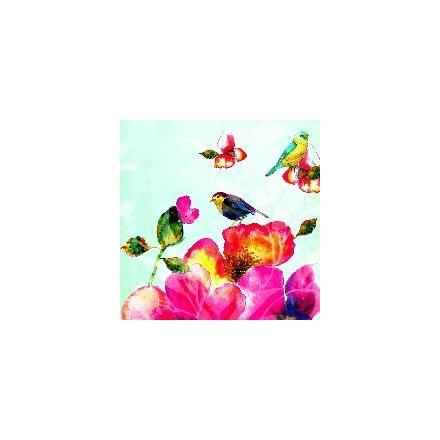 Χαρτοπετσέτα για Decoupage, Tropical Birds (blue) / 13307686