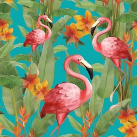 Χαρτοπετσέτα για Decoupage, Flamingo's Aqua / 13309105