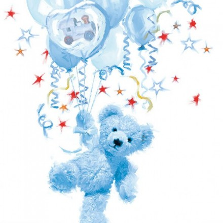 Χαρτοπετσέτα για Decoupage, Teddy (blue) / 13310090