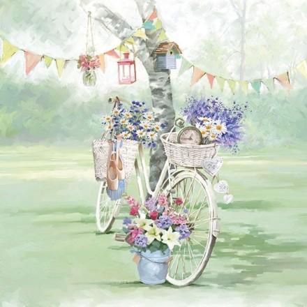 Χαρτοπετσέτα για Decoupage, Bike Against Tree / 13310240