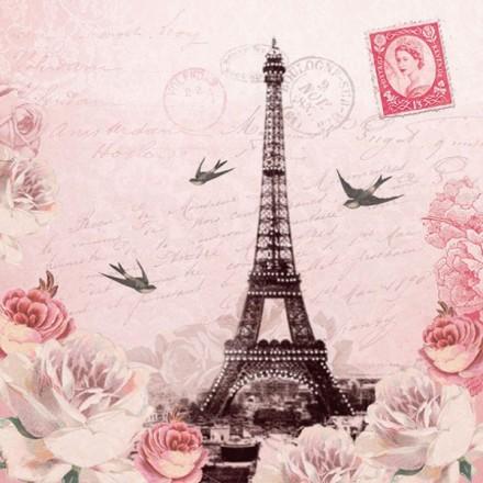Χαρτοπετσέτα για Decoupage, Letter To Paris / 13311380