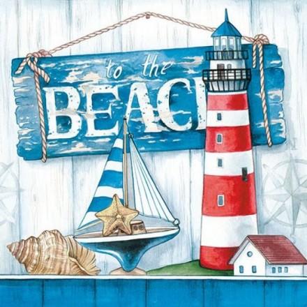 Χαρτοπετσέτα για Decoupage, To The Beach / 13311530