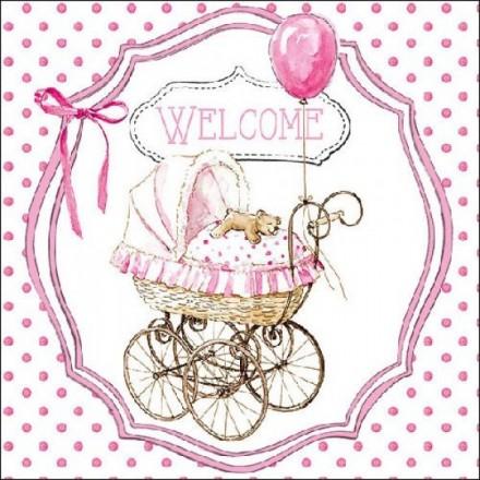Χαρτοπετσέτα για Decoupage, Welcome pink / 13312980