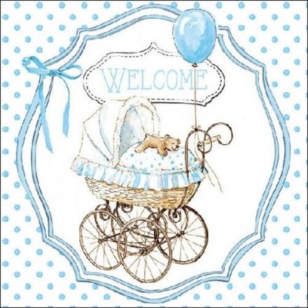 Χαρτοπετσέτα για Decoupage, Welcome blue / 13312985
