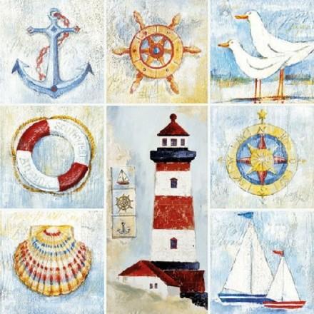 Χαρτοπετσέτα για Decoupage, Seaside / 13313080