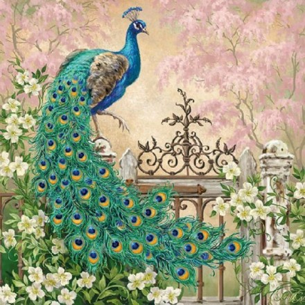 Χαρτοπετσέτα για Decoupage, Noble Peacock / 13313175
